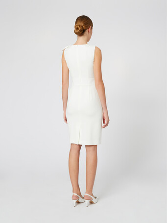 Satin-back crepe dress - Off white