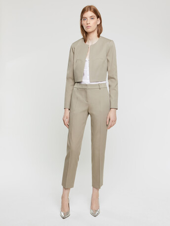 Skinny couture cotton pants - Taupe