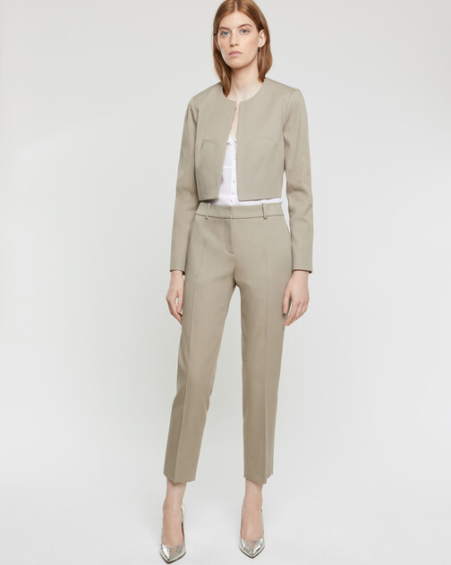 Skinny couture cotton pants