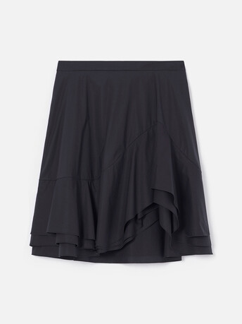 Jupe en popeline de coton - Noir