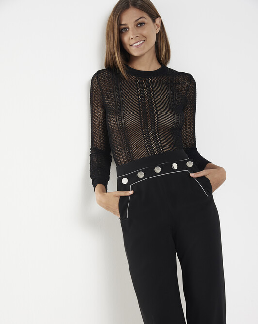 Viscose sweater - Noir