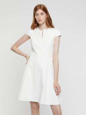 Robe en coton couture - Blanc