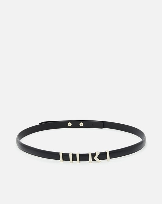 Leather belt - Noir