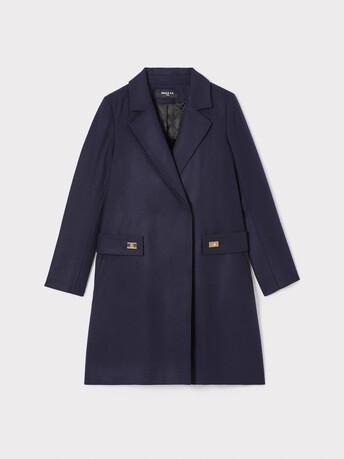 Manteau en drap de laine - Marine