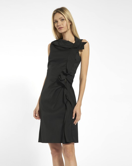 Stretch ottoman dress - Noir