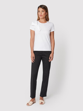 T-shirt en jersey de coton stretch - Blanc