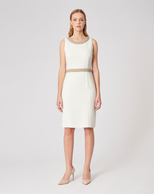 Plumetis canvas dress