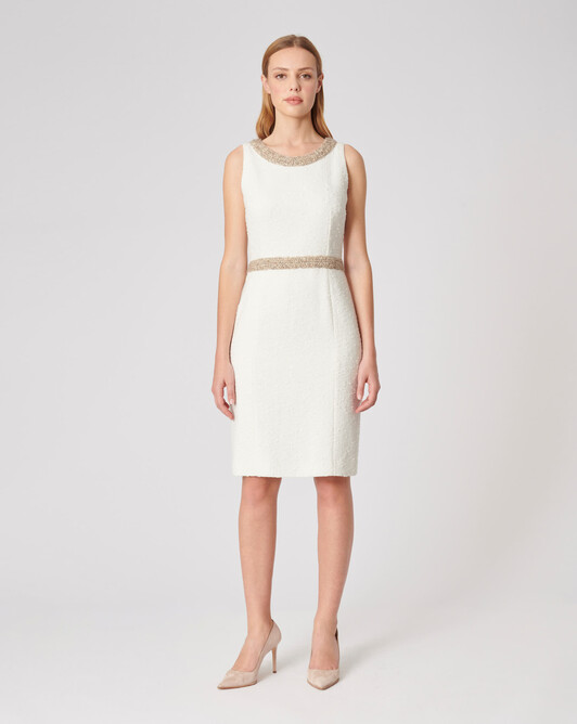 Plumetis canvas dress - Off white