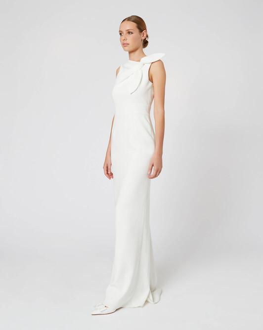 WOVEN DRESS - Off white
