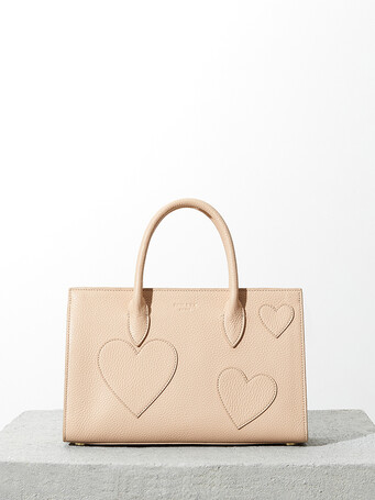 Grained-leather bag - Sand