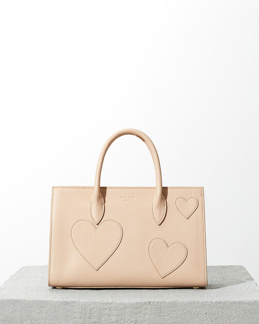 Grained-leather bag