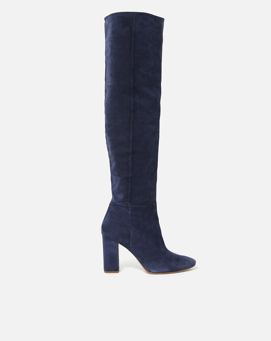 Suede boots - Navy blue