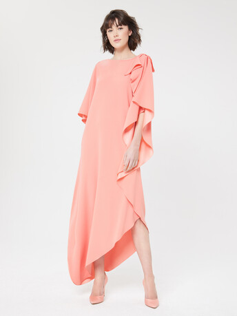 Satin-back crepe gown - Eau de rose