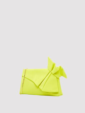 Ottoman-stretch clutch - Lime