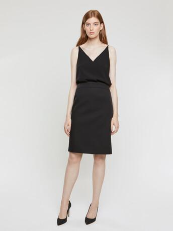 Cotton couture pencil skirt - Noir