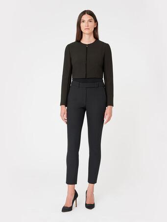 Veste en tricotine stretch - Noir