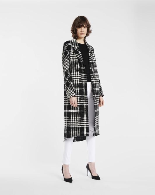 Manteau en prince de galles - Noir / blanc