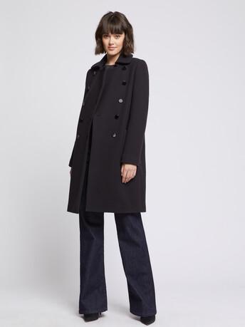 Manteau en laine à double boutonnage - Marine