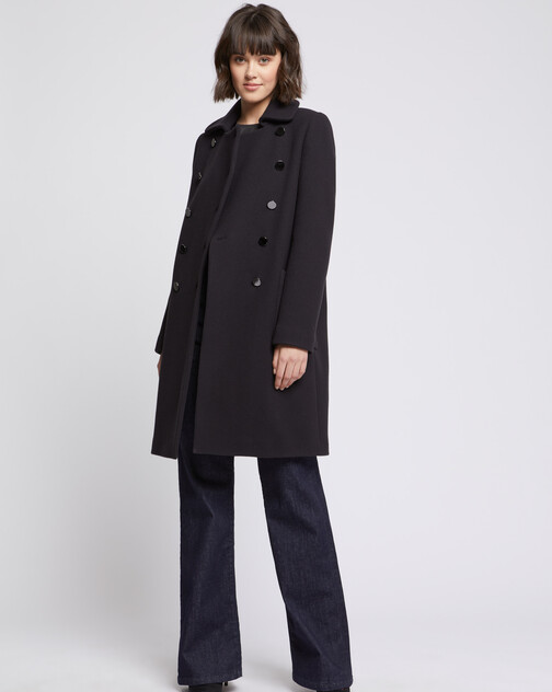 Manteau en laine à double boutonnage