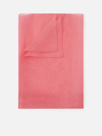 Shawl in organza - Pink