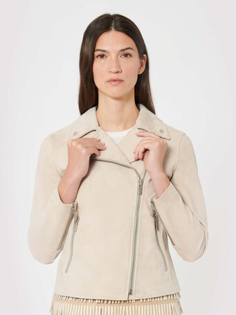 Lambskin leather jacket - Biscuit