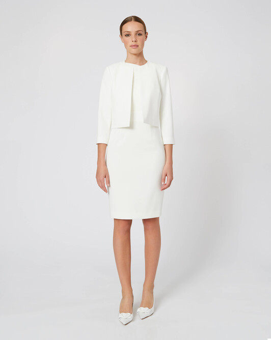 WOVEN SUIT JACKET - Off white