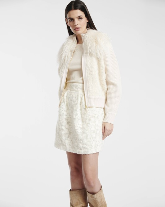 Cardigan en laine cachemire - Naturel
