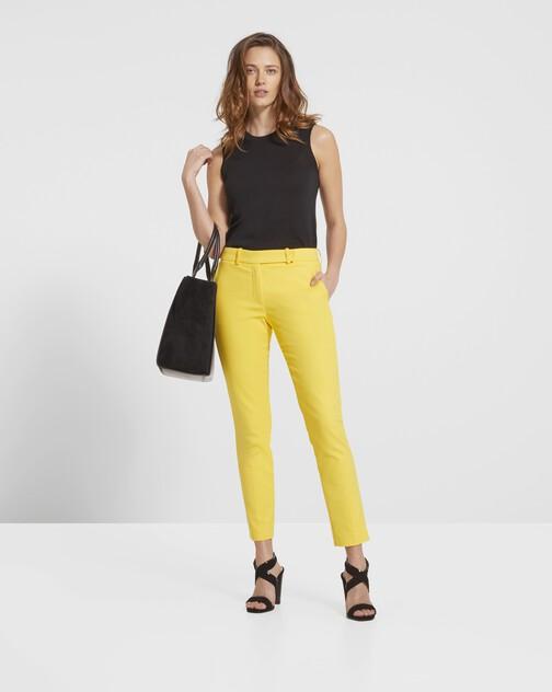 Pantalon en tricotine de coton stretch