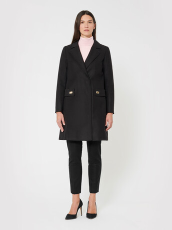 Wool coat - Noir