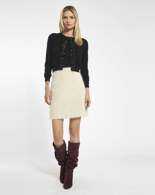 Pastel mohair skirt - Beige