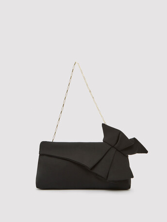 Ottoman-stretch clutch - Noir