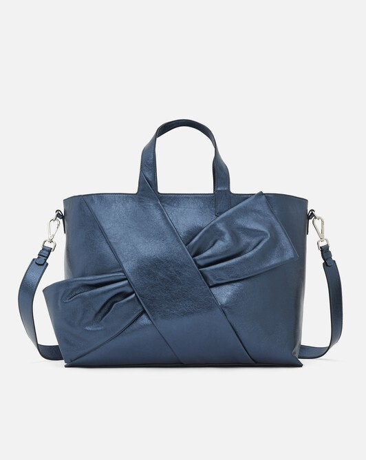 Bag in laminated leather - Blue