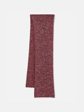 Sequin-embellished scarf - Cranberry