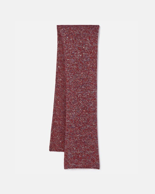 Sequin-embellished scarf - Cranberry
