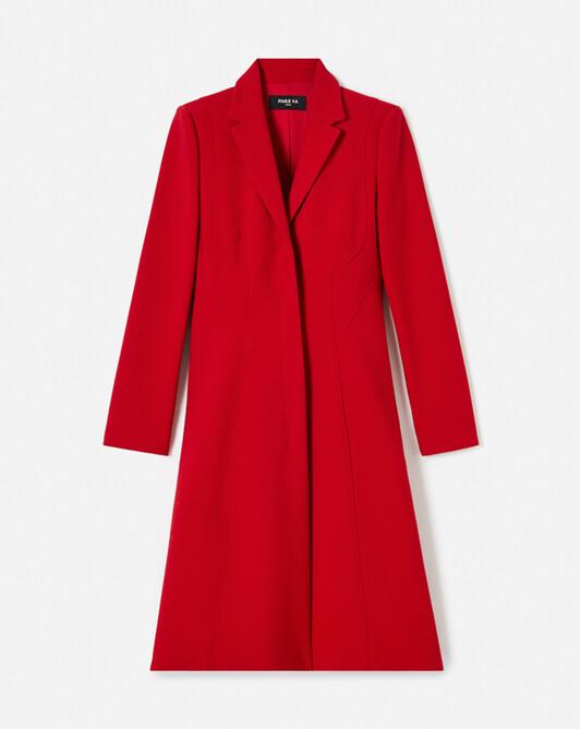 Manteau en tricotine stretch - Pomme d'amour