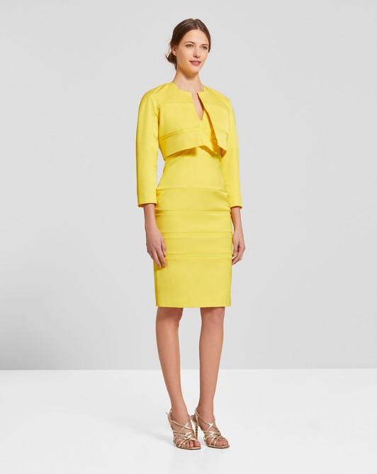 Stretch-ottoman jacket - Citron