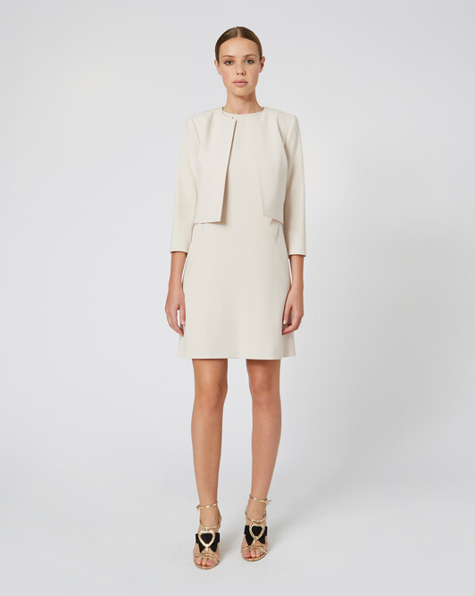 WOVEN SUIT JACKET - Coquille