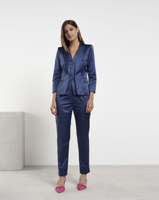 Satin-poplin jacket - Encre