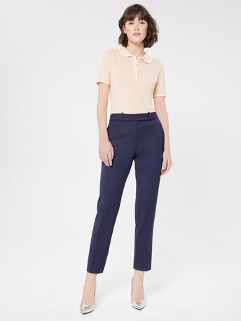 Merino wool sweater - Gingembre/blanc casse