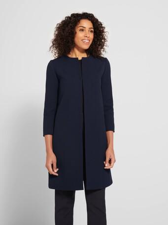 Manteau en piqué de coton - Encre