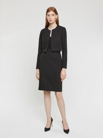 Veste en coton couture - Noir