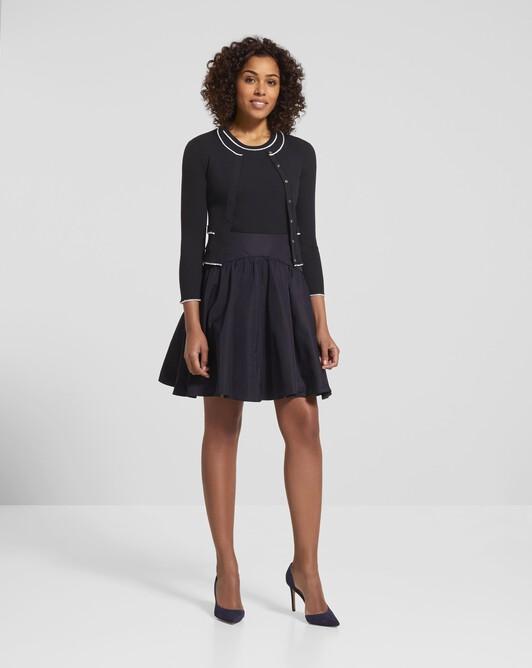 Merino wool sweater - Noir / blanc casse