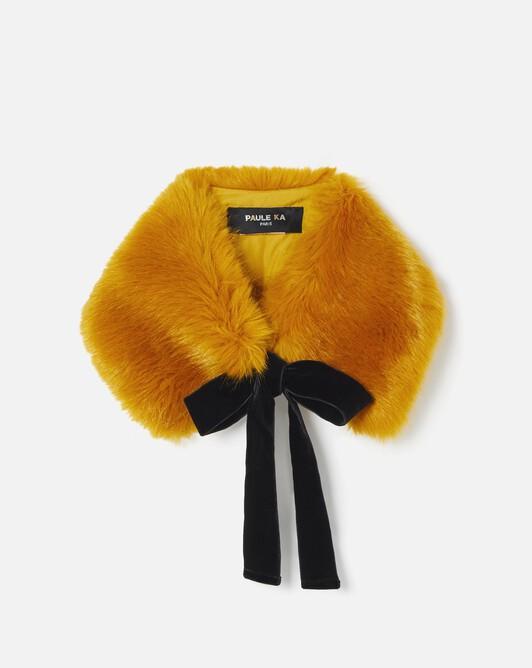 Removable collar in faux fox fur - Safran