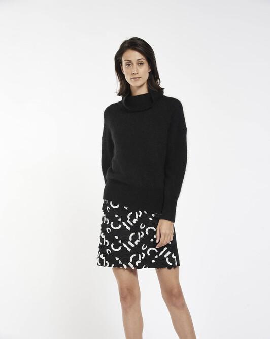 Mohair sweater - black