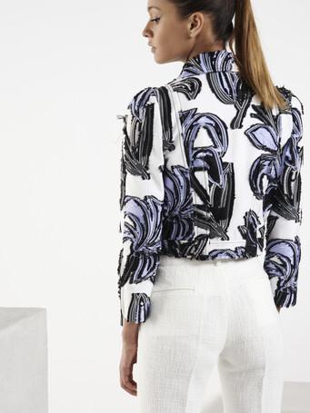 Veste en jacquard - Blanc / lavande