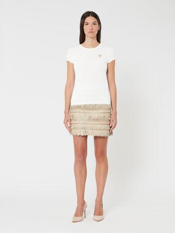 Pull en laine et cachemire - Blanc casse