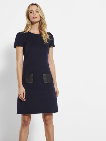 Double-faced dress - Navy blue