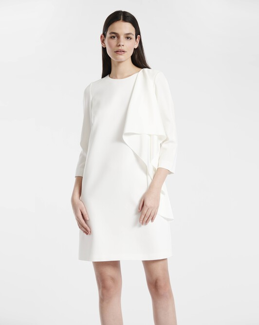 Dress in satin-back crepe - Off white