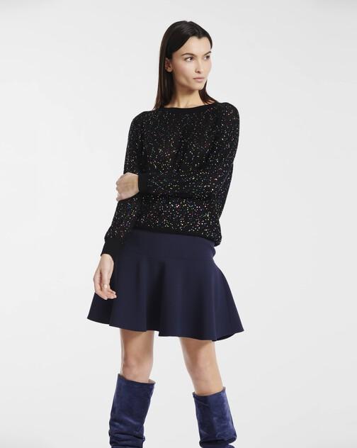 Skirt in satin-back crepe