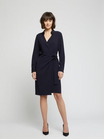WOVEN DRESS - Navy blue